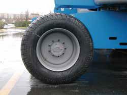 Neumáticos de una plataforma